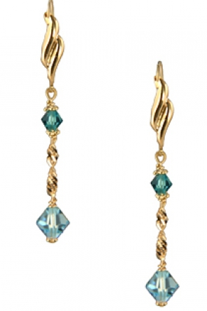 EG21-138  Swarovski Earrings 14KY