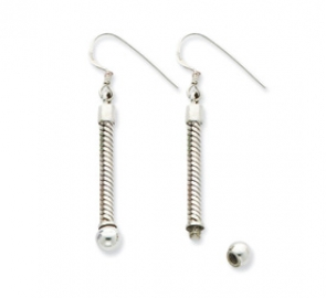 QRSER3 Sterling Silver Reflections Long Earring