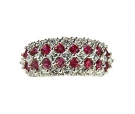 RG3 - 210  Ruby & Diamond Ring 18K White Gold
