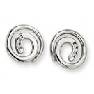 SRE146 Stainless Steel CZ Earrings