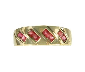 RG3-213  Ruby Wide Band 14K Yellow Gold