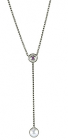 NG22-122  Pearl Dangle Necklace