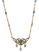 NG17-101  Celtic Blue Topaz Necklace 14K