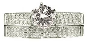 RGI-275 Diamond Wedding Set 14KW
