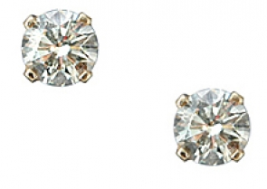 EG1-12J  Diamond Stud Earrings 14KY