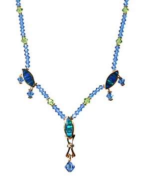 NG12-73  Swarovski & Opal Necklace