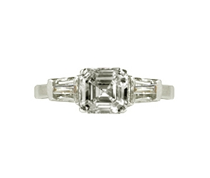 RG-70 Engagement Ring 14K White Gold