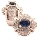 Sapphire and Diamond Pillow Ring