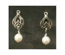 ESS13-1326 Celtic Dangle Pearl Earrings