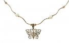 NG25-275  14K & Opal Butterfly Necklace