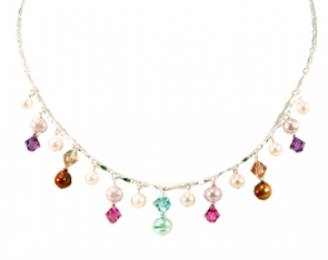 NSS22-205  Colorful 18 Inch Neckpiece