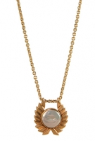 PG13-108  Coin Pearl Pendant 14K
