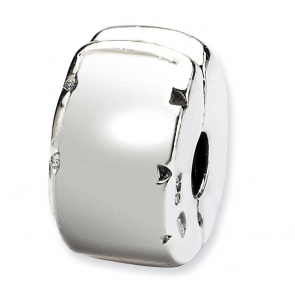 QRS103 Sterling Silver Reflections Hinged Clip Bead