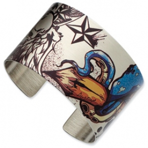 SRB635 Stainless Steel Creative Monster Cuff Bangle