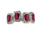 RG3 - 211 Ruby & Diamond Ring 18K White Gold