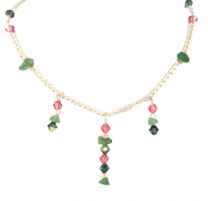 NSS22-204  Jade and Crystal Neckpiece